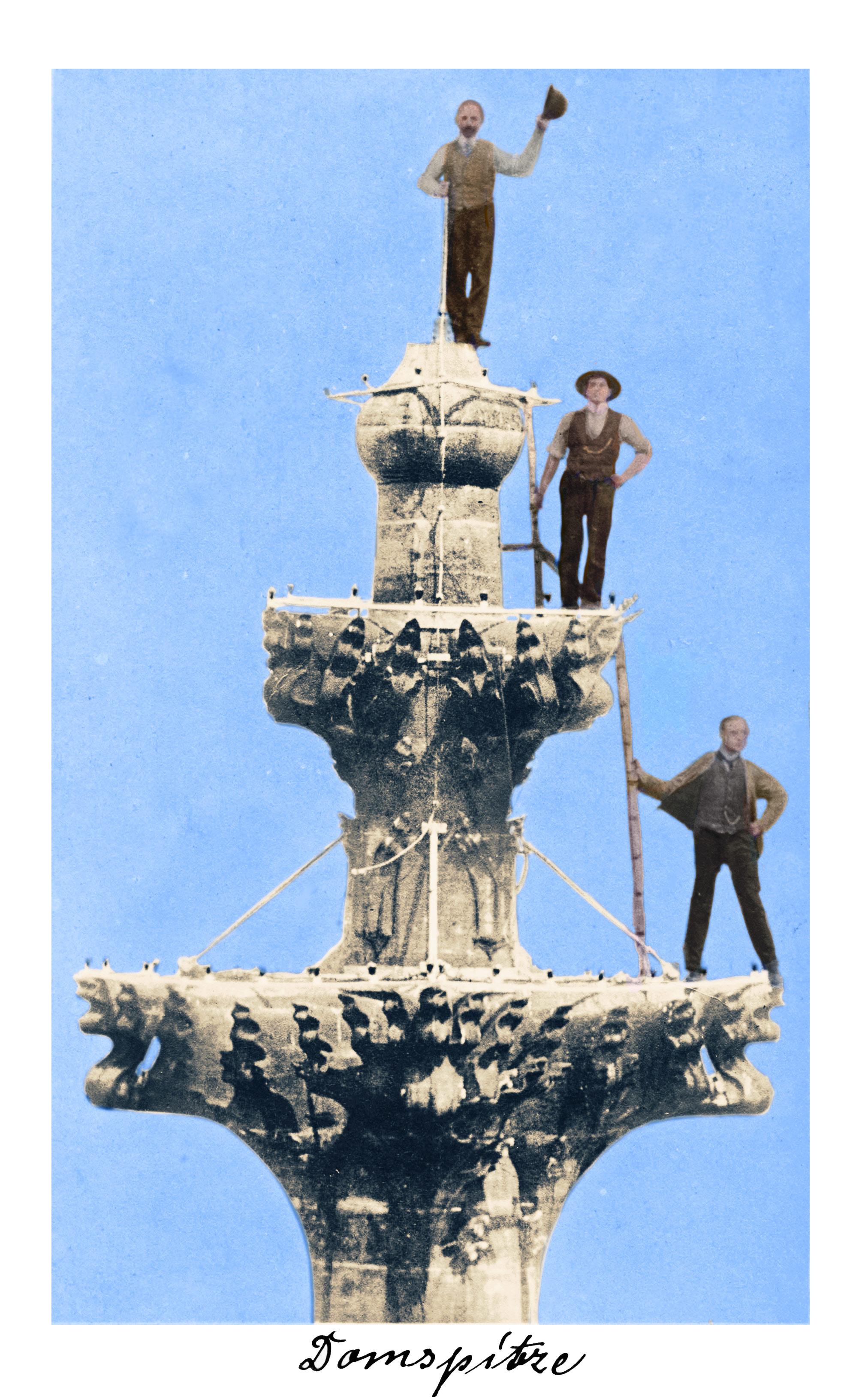 Bild von Männern auf der Domspitze