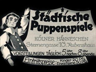Bild eines Werbeplakats vom Kölner Hänneschen