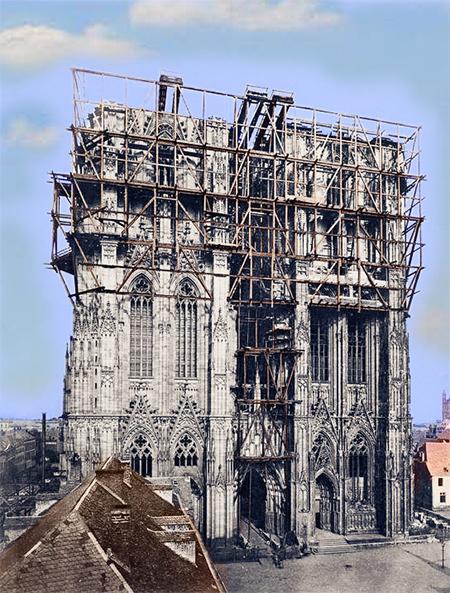Bild vom Kölner Dombau 1890