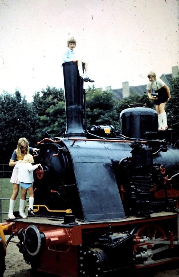 Bild von der Lokomotive im Kölner Zoo