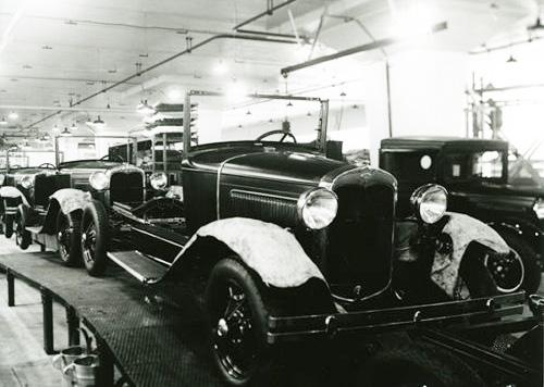 Bild aus den Ford-Werken in Köln