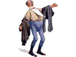 Bild Karikatur eines Sängers