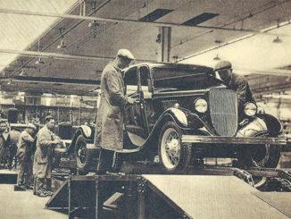 Bild vom Fließband der Ford-Werke Köln